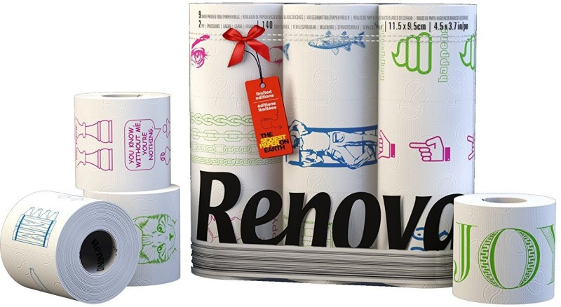 Renova Toilet Paper Limited Editions 9 Rolls Toilet Paper Roll(2 Ply, 140 Sheets)