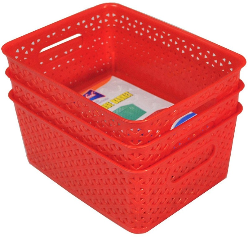 JVS Plastic Bread Basket(Red)