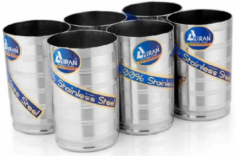 Airan 156565465 Glass Set(450, Silver, Pack of 1)
