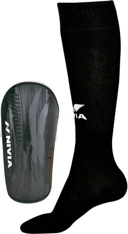 Nivia Combo of Wisdom - 2018 Shinguard (M) & Soccer Stockings (M) Football Kit