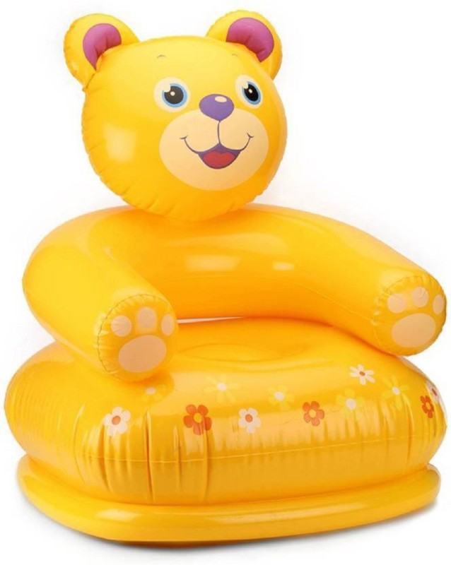 Amazia Inflatable Kids Happy Teddy Air Chair/Sofa for Kids(Yellow)