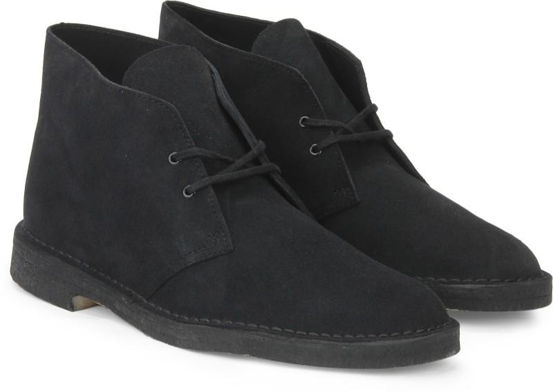 Clarks Desert Boot Navy Boots For Men(Black)