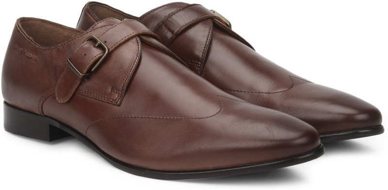 Hush Puppies SWANKY MONK Monk Strap For Men(Brown)