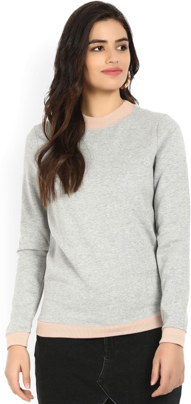 Vero Moda Full Sleeve Solid Women Sweatshirt