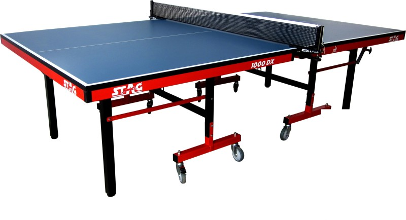 Stag 1000DX International Rollaway Indoor Table Tennis Table(Blue)
