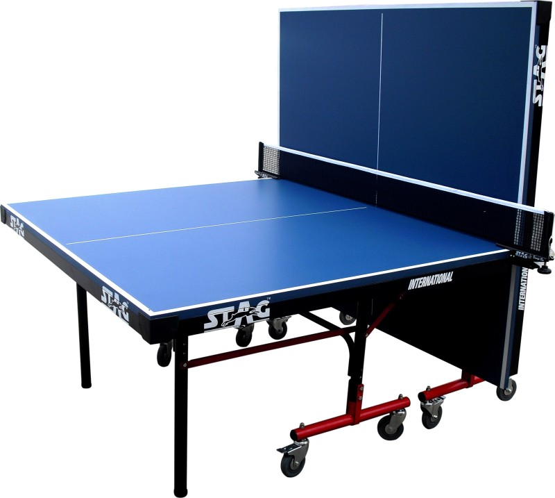 Stag International Rollaway Indoor Table Tennis Table(Blue)