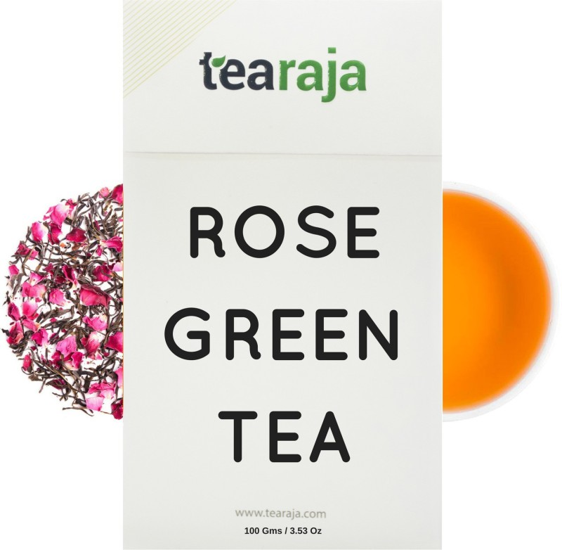 Tearaja Rose Green Tea Rose Green Tea(100 g, Vacuum Pack)