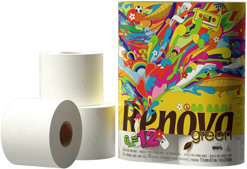 Renova Green Toilet Paper XXL 6 Rolls Toilet Paper Roll(2 Ply, 260 Sheets)