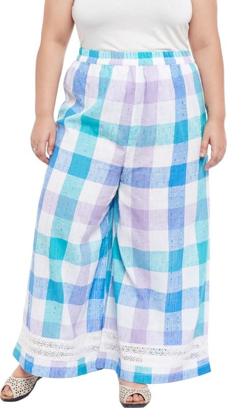 TALINUM Slim Fit Women Light Blue Trousers