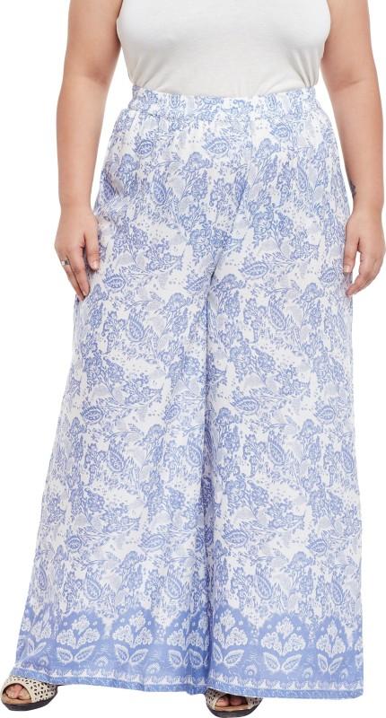 TALINUM Slim Fit Women Blue Trousers