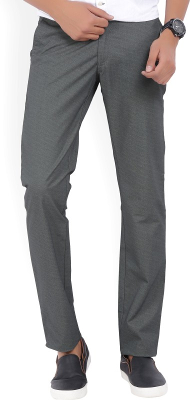 Allen Solly Slim Fit Mens Grey Trousers