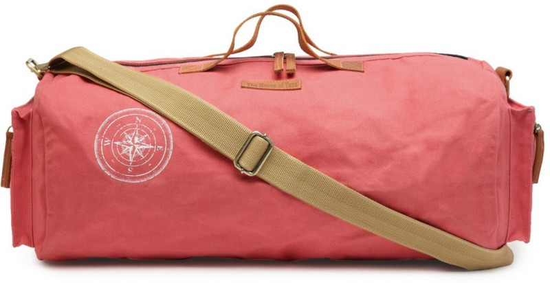 The House of Tara (Expandable) Special Waxed Canvas Gym Travel Duffel Bag(Pink)