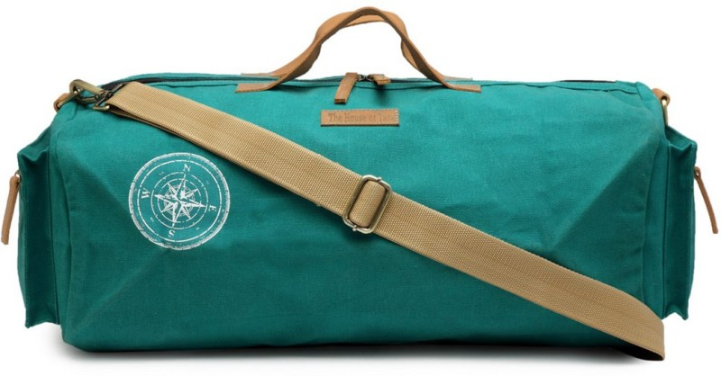 The House of Tara (Expandable) Special Waxed Canvas Gym Travel Duffel Bag(Green)