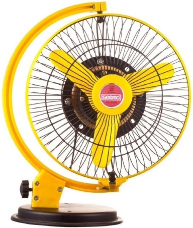 Seema StormyFan-Yellow 3 Blade Table Fan(Yellow)