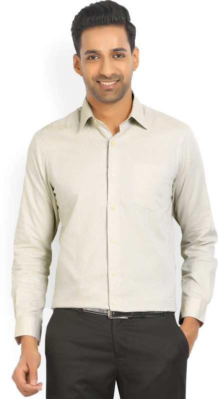 Arrow Mens Printed Casual Beige Shirt