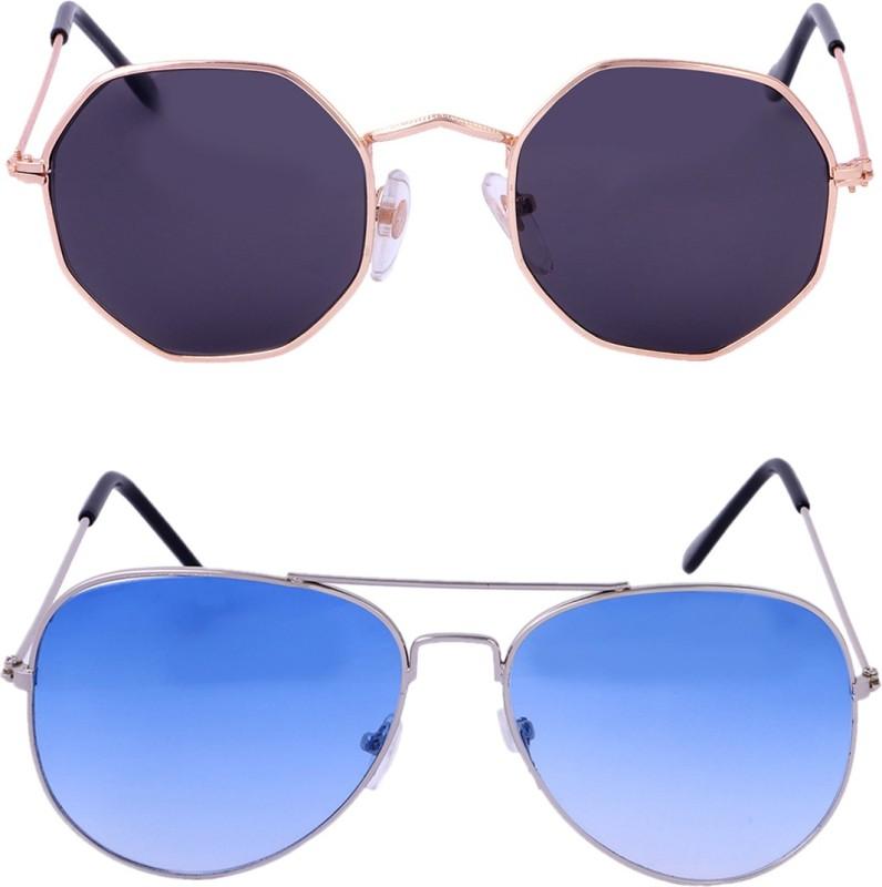 Amour-Propre Aviator Sunglasses(Multicolor) image