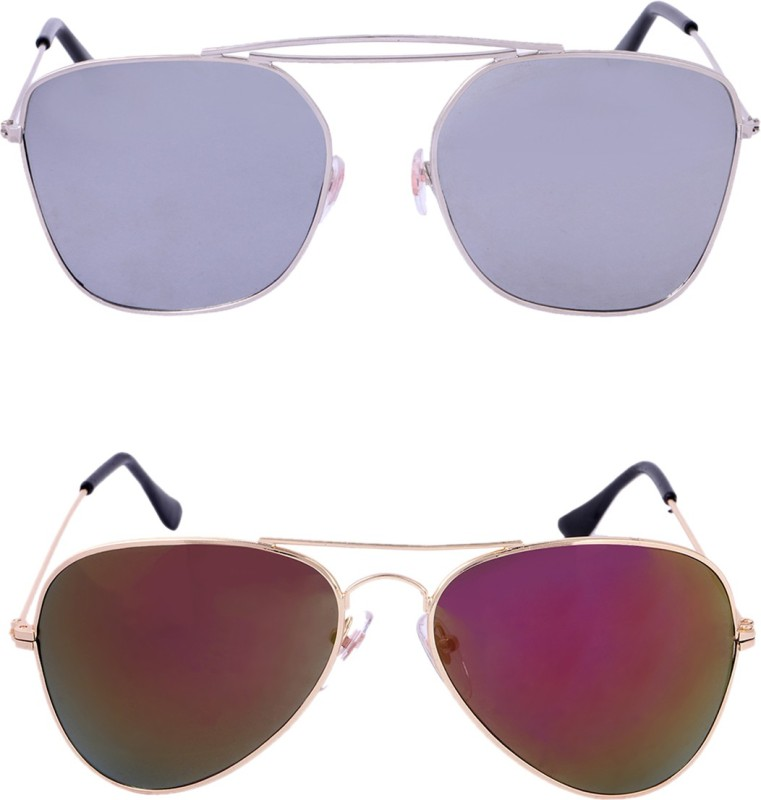 Amour-Propre Retro Square, Aviator Sunglasses(Multicolor)