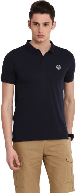 Classic Polo Solid Men Polo Neck Purple T-Shirt
