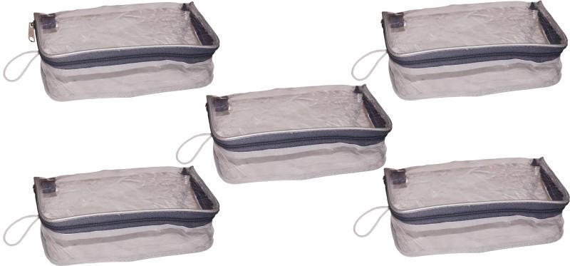 Funkroo Pack of 5 transparent cosmetic bag bridal organizer jewellry srorage vanity box Jewellery Vanity Box(Transparent)