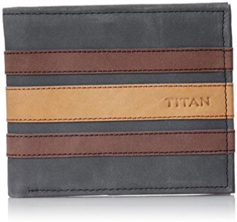 Titan Men Multicolor Genuine Leather Wallet(10 Card Slots)