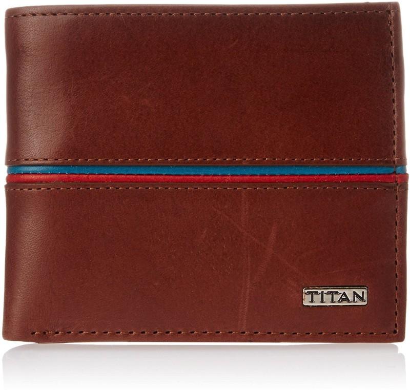 Titan Men Tan Genuine Leather Wallet(3 Card Slots)