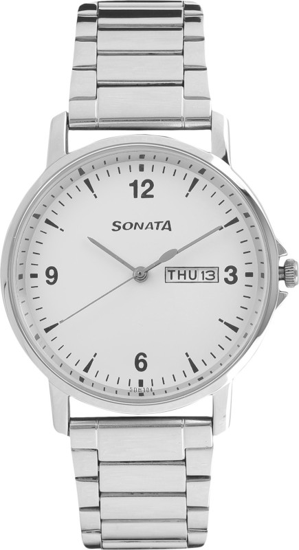 Sonata 77083SM01 Gents Essentials Analog Watch - For Men