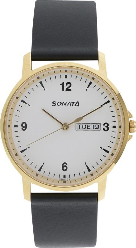 Sonata 77083YL01 Gents Essentials Men's Watch image