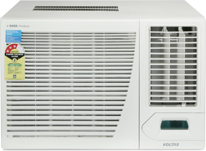 Voltas 1.5 Ton 3 Star Window AC - White(183CZP, Copper Condenser)