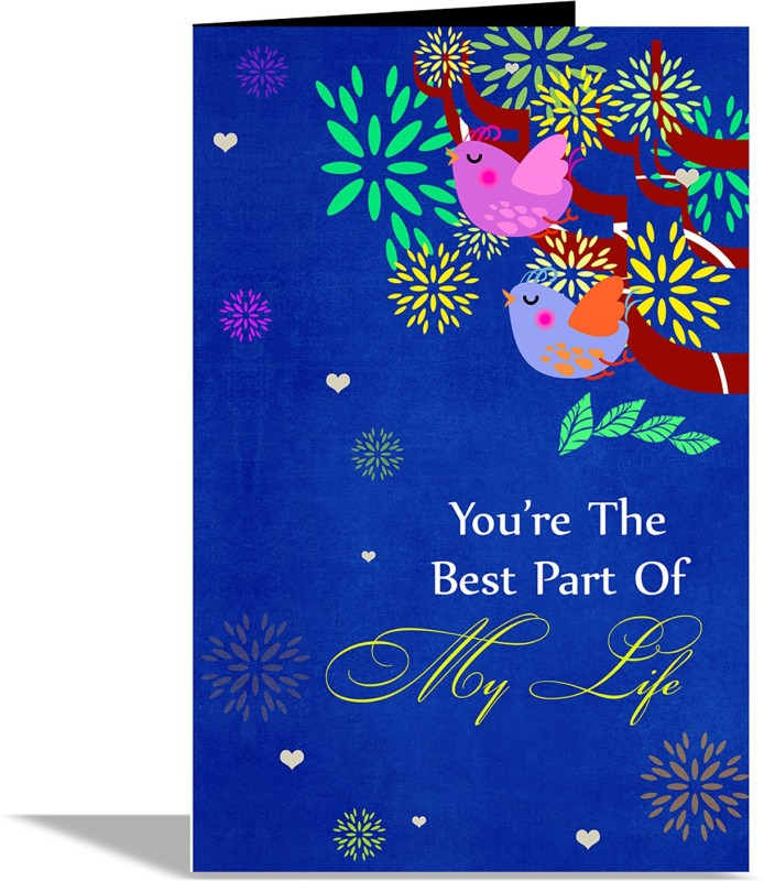 alwaysgift Youre The Best Part Of My Life Greeting Card Greeting Card(Multicolor, Pack of 1)