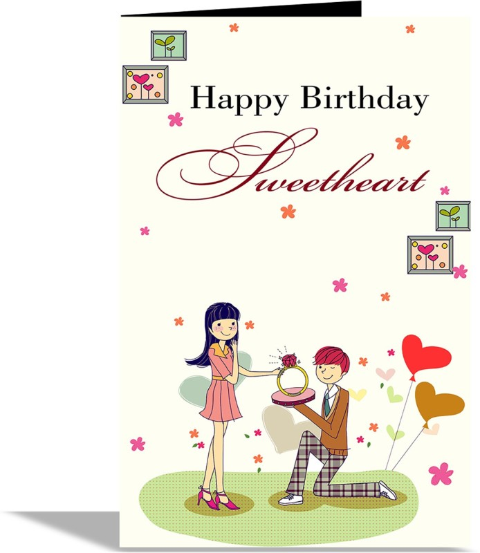 Alwaysgift Happy Birthday Sweetheart Greeting Card CardMulticolor Pack Of 1