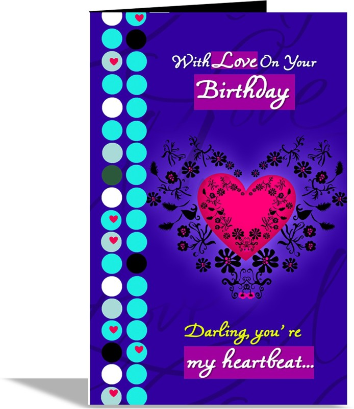 alwaysgift Darling Youre My Heartbeat Greeting Card Greeting Card(Multicolor, Pack of 1)