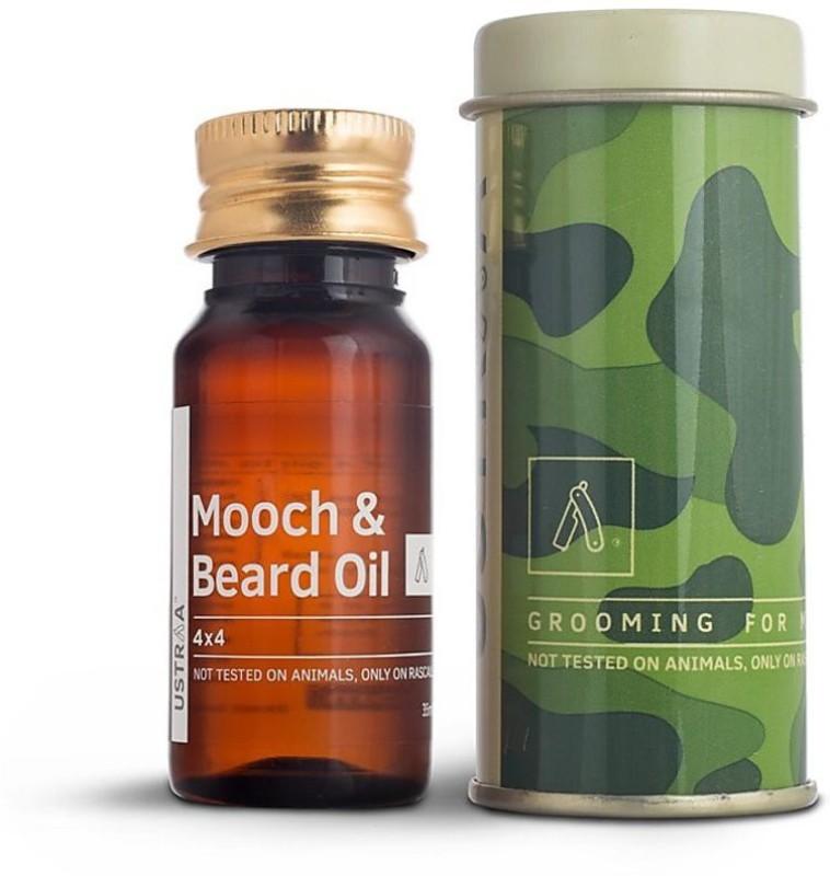 Ustraa Mooch and Beard Oil 4X4 (35 ml) Hair Oil(35 g)