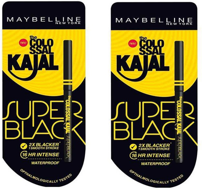 Maybelline MAYBELLINE_SUPER BLACK KAJAL (Pack of 2) 0.70 g(Black)