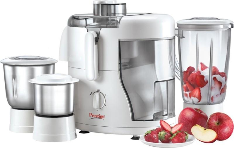 Prestige champ 550 watt 230 Juicer Mixer Grinder(White, 3 Jars)