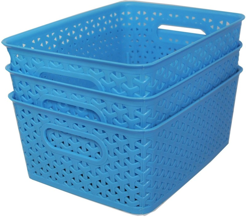 Fair Food Plastic Bread Basket(Blue)