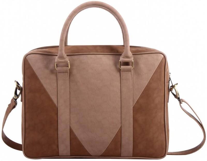 Mohawk Camelus 14 Laptop Bag Medium Briefcase - For Men & Women(Tan)