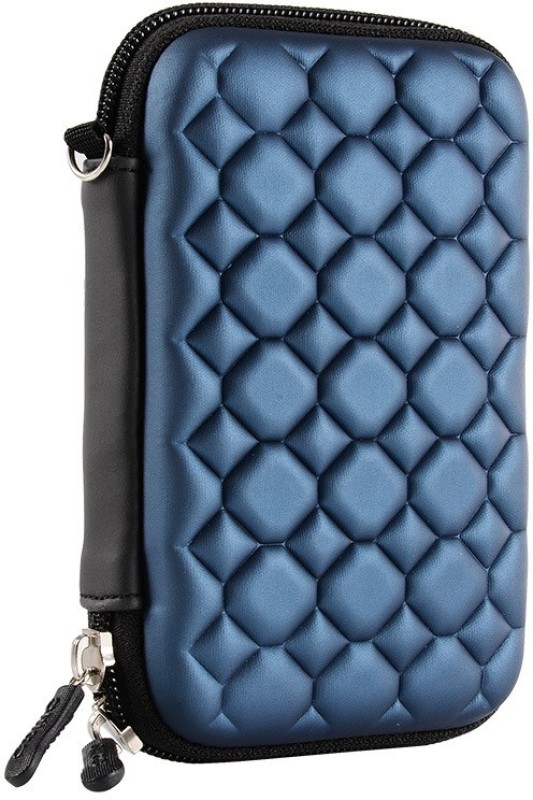 AlexVyan Pouch for HP 1 TB, 2 TB Wired External Hard Disk Drive Drive (Casing Case Cover Enclosure Bag Sleeve)(Blue, Shock Proof)