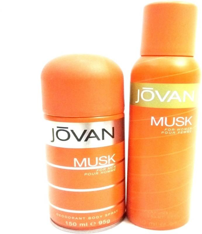 Jovan MUSK Deodorant Spray - For Men & Women(300 ml, Pack of 2)