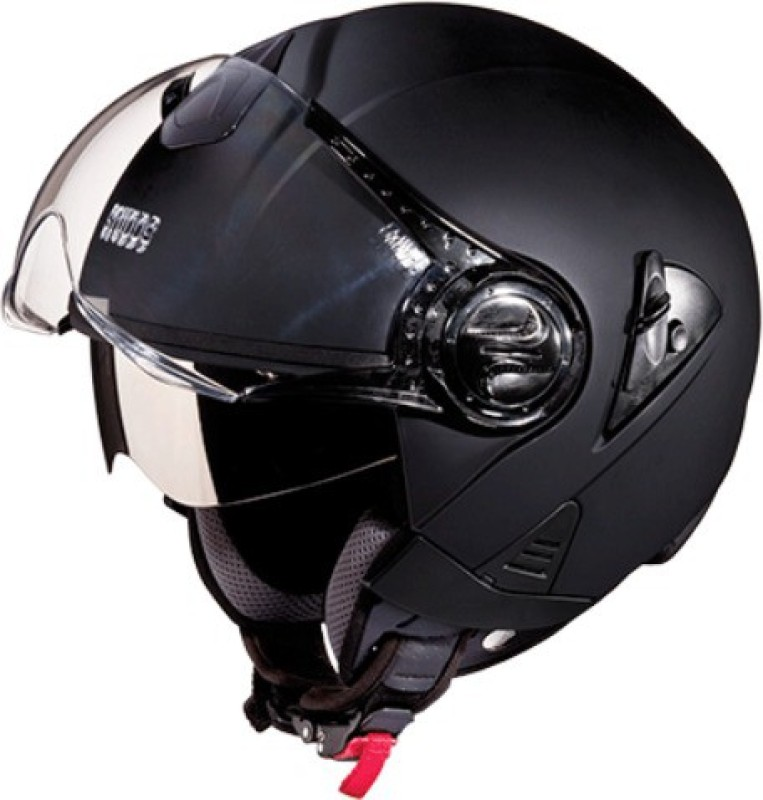 Studds Downtown Open Face Helmet Matte Black Motorbike Helmet(Black)
