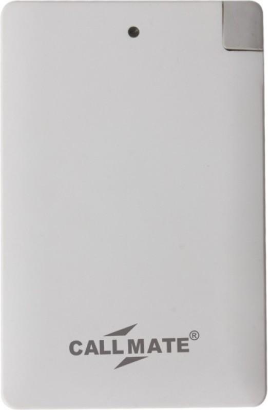 Callmate 2500 Power Bank (Power Bank, Card 2500 mAh)(White, Lithium Polymer)