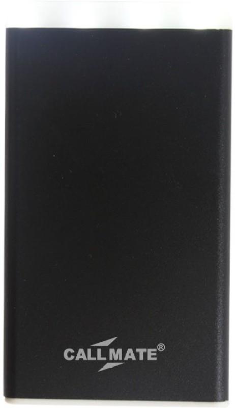 Callmate 4000 Power Bank (With LED Light, Metal Pum 4000 mAh )(Black, Lithium Polymer)