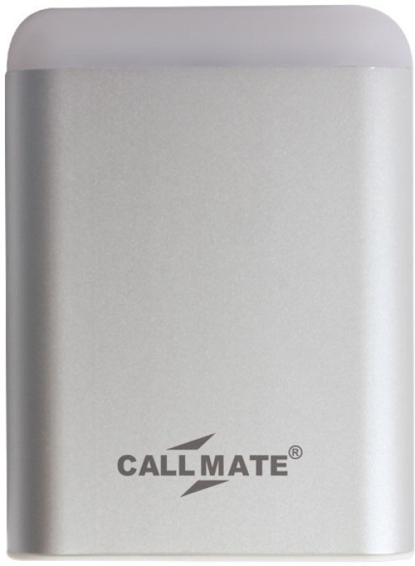 Callmate 10400 Power Bank (4, With Dual USB Charging Port with LED Light-Silver)(Silver, Lithium-ion)