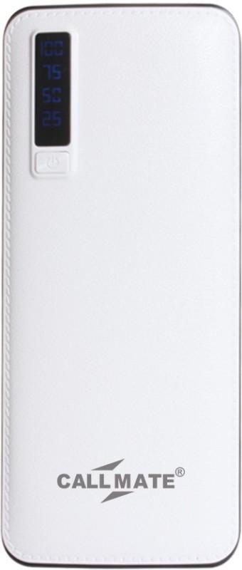 Callmate 13000 Power Bank (Stri, White)(White, Lithium-ion)
