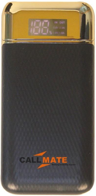 Callmate 10000 Power Bank (Y9, Dual USB Charging Port)(Black, Lithium-ion)