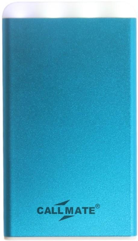 Callmate 4000 Power Bank (Power Bank, Metal Pumi 4000 mAh With LED Light)(Sky Blue, Lithium Polymer)