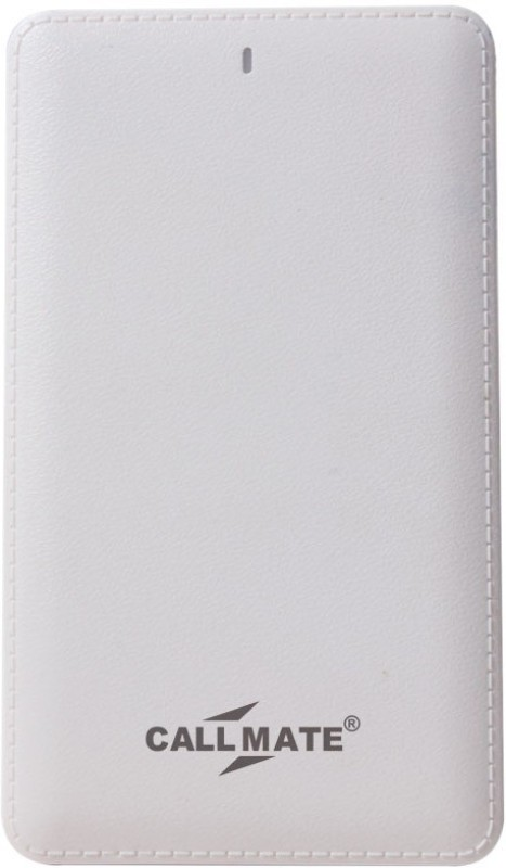 Callmate 10000 Power Bank (Power Card, Power Card 10000 mAh)(White, Lithium Polymer)