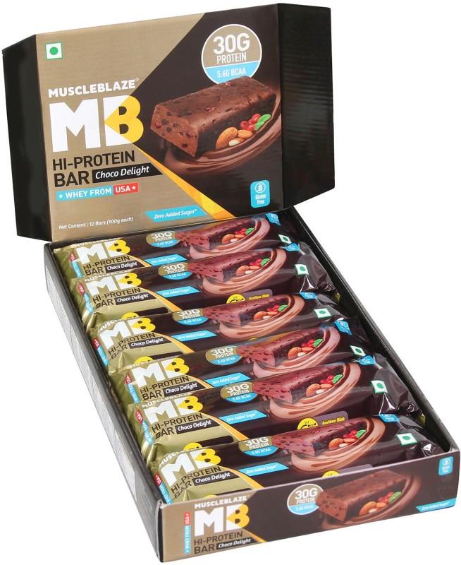 MuscleBlaze Hi Protein Bar with 30g Protein & Zero Added Sugar Protein Bars(1200, Choco Delight)