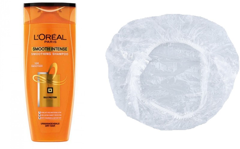 LOreal Smooth Intense Smoothing Shampoo (175ml) With Shower Cap(175 ml)