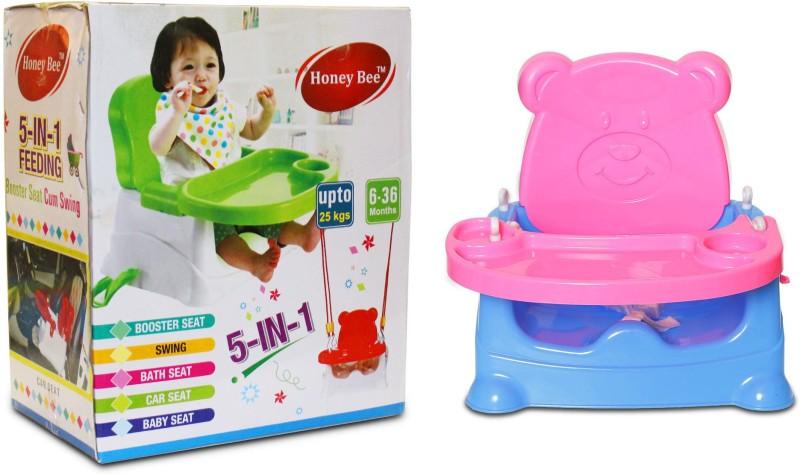 Akshat 5 IN 1 FEEDING BOOSTER SEAT CUM SWING CUM Baby Car Seat(No Recline position, Multicolor)