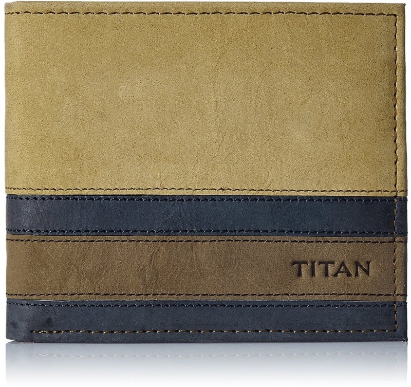 Titan Men Tan Genuine Leather Wallet(6 Card Slots)